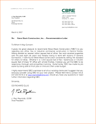 Real Estate Sample Letter 5 Examples Of Letters Of Recommendation For Employment Receipts