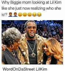 Biggie Meme - why biggie mom looking at lil kim like she just now realizing who