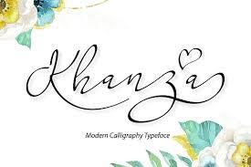 khanza script script fonts creative market