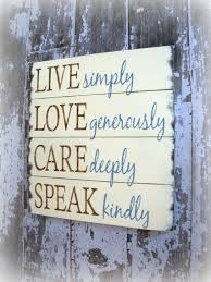 Live Love Laugh Home Decor Choose Happiness Show Kindness Live Joyfully Love Abundantly Laugh
