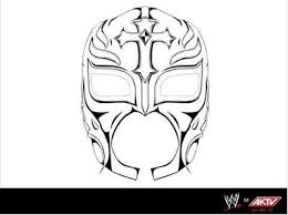 8 images of rey mysterio mask coloring pages rey mysterio