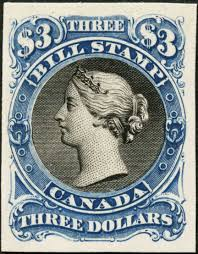 Canadian Flag 1960 Canadian Revenues 3 Bill Stamp 2nd Issue Proof Postal