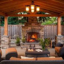 Patio Furniture Portland Or Charm Of An Outdoor Living Space W Grand Fireplace Paradise