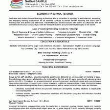 Example Teacher Resume by 65 Sample Teacher Resumes 100 Resume For Teacher Assistant