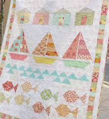Nautical Quilts Summer Beach Quilt By Pretty Little Quilts I U0027m Falling For