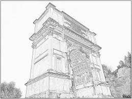 rome titus arch 11a 166 built by domitian in 81 in coloring pages
