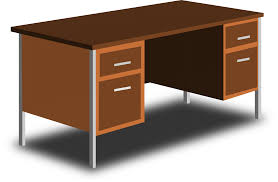 clipart an office desk