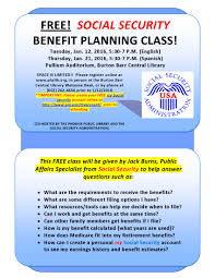social security help desk free social security benefit planning class area agency