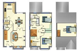 amazing three bedroom semi detached house plan pictures best