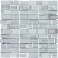 elida ceramica silver windows staggered mosaic glass and metal