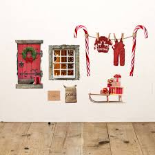 christmas elf fairy door wall sticker by oakdene designs christmas elf fairy door wall sticker