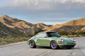green porsche photo gallery porsche 911 reimagined by singer in green and