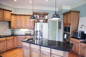 kitchen island different color than cabinets prize pendants bower power
