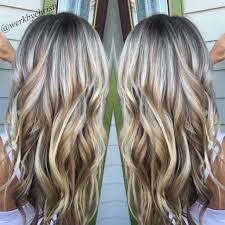 platimum hair with blond lolights highlights and lowlights platinum blonde honey blonde balayage