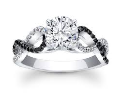 infinity engagement rings engagement ring black white infinity diamond engagement ring in