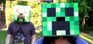 Minecraft Costume How To Build A Minecraft Creeper Head Halloween Costume
