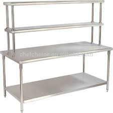 Stainless Steel Folding Work Table Reinforced Frame Resturant - Stainless steel kitchen tables