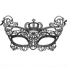 masquerade mask women lovely lace crown half