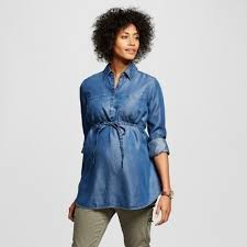 liz lange liz lange women s maternity tencel button tunic wash