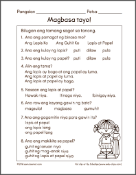 all worksheets filipino worksheets for grade 1 printable