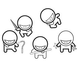 cartoon ninja coloring pages japanese culture kids crewel
