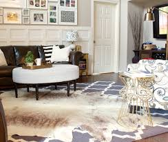 Cowhide Rug In Living Room A Cowhide Rug Accident With A Happy Ending Decorchick