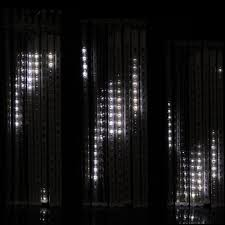 led meteor snow fall snowing effect icicle lights connectable