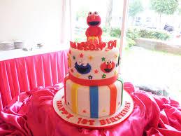 marion u0027s 1st birthday elmo cake sesame street by mau u0027s cupcake
