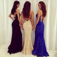 vianla 2017 open back royal blue lace prom dress sheath