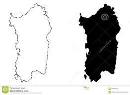 Sardinia Map Sardinia Island Map Vector Stock Vector Image 94687409