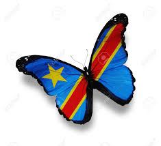 Dr Congo Flag Flag Of Democratic Republic Of The Congo Butterfly Isolated