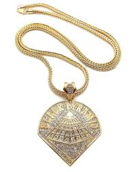 black necklace pendants images The black bat hip hop jewelry bling chains iced out pendants jpg
