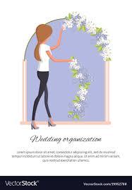 wedding organization wedding organization poster royalty free vector image