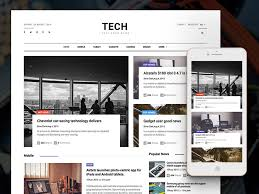 newspaper theme html5 technews free bootstrap html5 magazine website template uicookies
