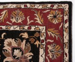 beautiful traditional black burgundy gold 5x8 hand tufted wool