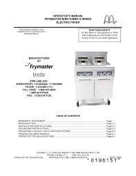 fryer users guides