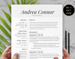 1 page resume template for word cover letter and one page