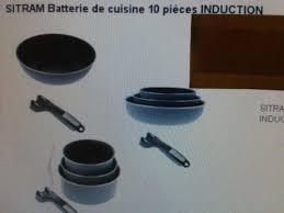 batterie de cuisine sitram sitram batterie de cuisine 10 pièces induction prix 59 99