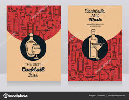 two banners for cocktail bar u2014 stock vector ghouliirina 145059349