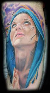 inkognito tattoos realistic virgin mary tattoo