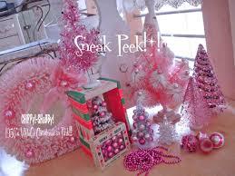 vintage pink christmas tree christmas lights decoration