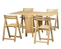 Modern Dining Room Table And Chairs by Drop Leaf Table With Folding Chairs Stored Inside Brilliant For