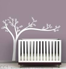 White Tree Wall Decal For Nursery Tree Wall Decal For Baby By Leolittlelion On Etsy
