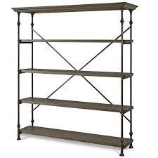 Bakers Rack Console French Industrial Oak Wood Metal Bakers Rack Shelving Zin Home