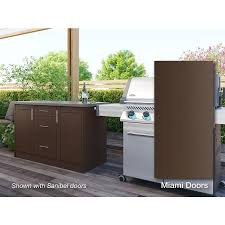 custom kitchen cabinets miami weatherstrong 54 in w x 34 5 in h x 24 in d dock brown door and drawer base semi custom cabinet
