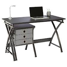 depot bureau brenton studio x cross desk and file set black by fice depot