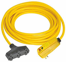 bold lighted triple tap cgm extension cord plug adapter yellow