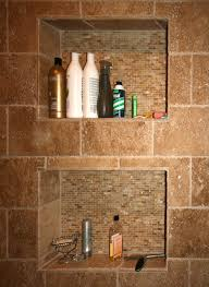 Bathroom Shower Shampoo Holder Built In Shower Shelves As The Practical Way Of Storing The Bath