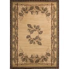 pine cone area rug shop balta carlswell beige rectangular indoor machine made lodge