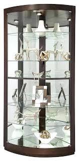 curio cabinet with light corner curio cabinets espresso finish curved glass door corner curio